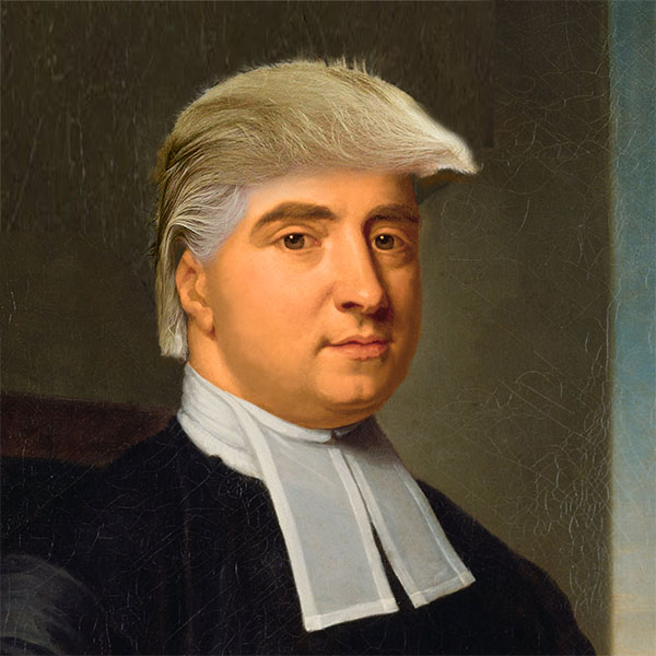 George Berkeley With Trump Hair and Orange Skin