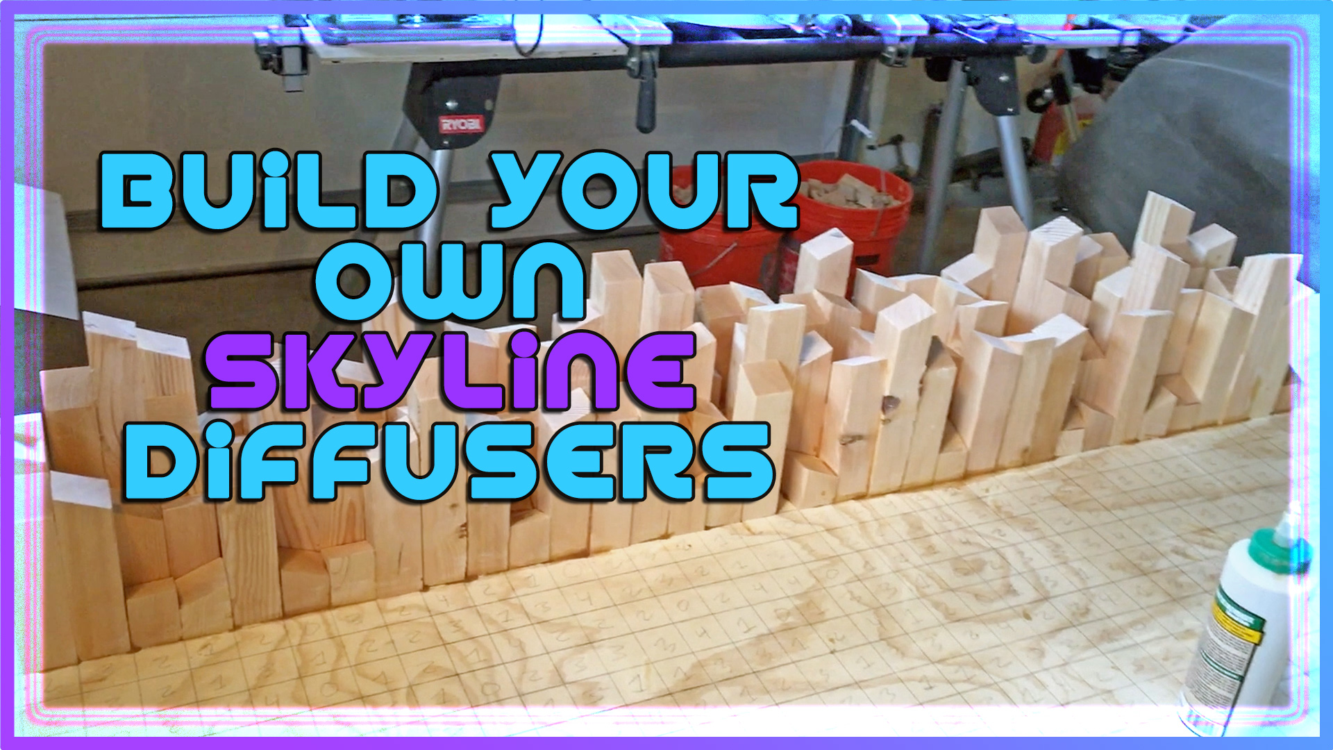 Video on how to build your own skyline sound diffuser